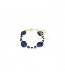 Azurite Oval Bracelet Gold Filled