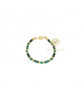 Malachite Gold Filled Bracelet
