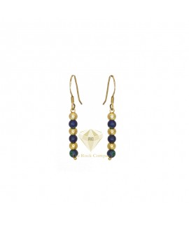 Azurite Gold Filled Round Earrings