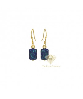 Azurite Gold Filled Earrings