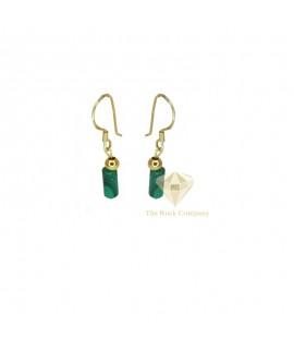 Malachite Gold Filled Earrings