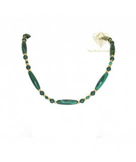 Malachite Gold Filled Necklace