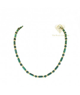 Malachite Gold Filled Necklace