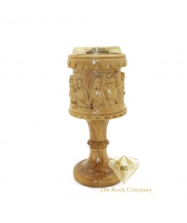 Olive Wood Chalice The Last Supper