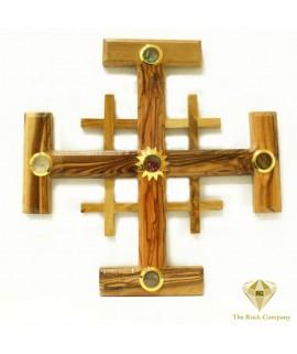 Jerusalem Olive wood Cross