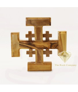 Holy Land Olive Wood Jerusalem Cross