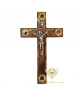 Olive Wood Cross with Crucifix