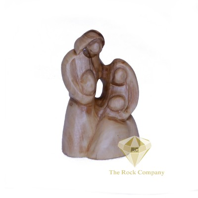 Faceless Olive Wood Holy family
