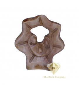 Faceless Olive Wood Star Holy Family