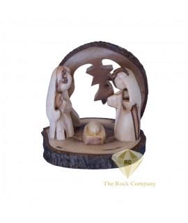Faceless Olive Wood Nativity Scene