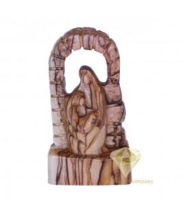 Faceless Olive Wood Holy Family
