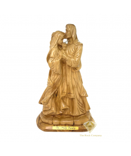 Adoring Holy Family Masterpiece Olive Wood Hand Carved