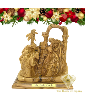 Nativity scene with the three Wise men olive wood statue Hand carved