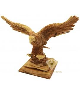 Olive Wood Artistic The Eagle Sculpture