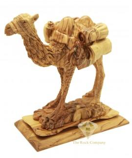 Olive Wood Artistic Camel Sculpture
