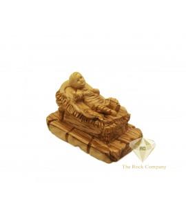 Olive Wood Artistic Baby Jesus