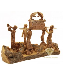 Olive Wood Artistic Ark Of The Covenant
