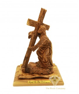 Olive Wood Artistic Road To The Cross