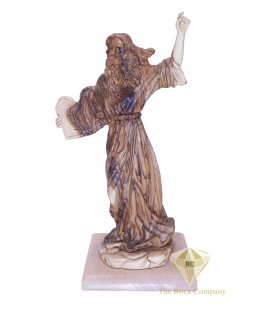 Olive Wood Hand Carved  Moses With The Ten Commandments