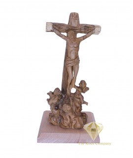 Olive Wood Hand Carved Cross