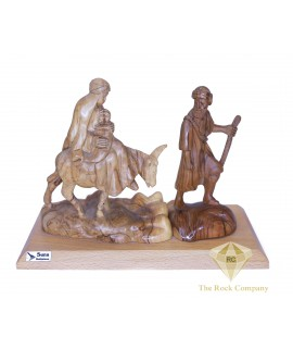 Olive Wood Hand Carved Flight To Egypt