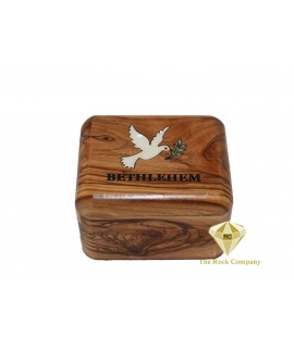 Olive Wood Box - Dove
