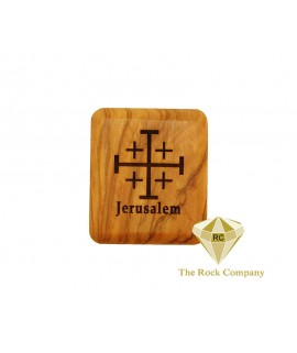 Olive Wood Box - Jerusalem Cross