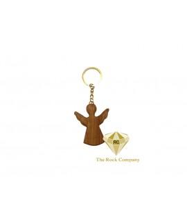Angel Olive wood Key Chain