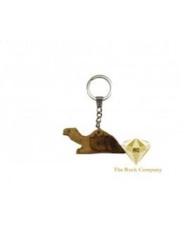 Camel Olive Wood Key Chain