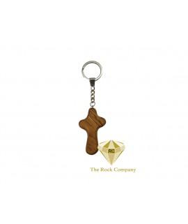 Cross Of Life Olive Wood Key Chain