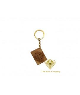 Jerusalem Cross Olive Wood Key Chain