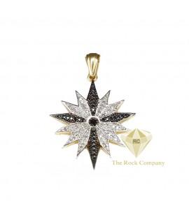Black And White Diamond Bethlehem Star Pendant