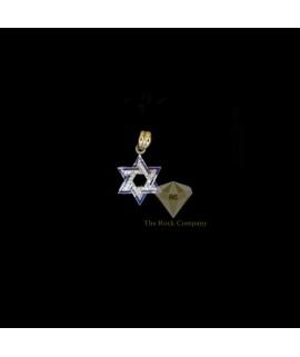 Diamond Enamel Star Of David Pendant
