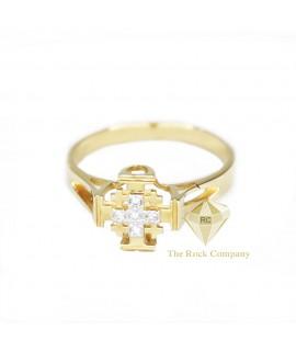 Diamond Jerusalem Cross 14K Yellow Gold