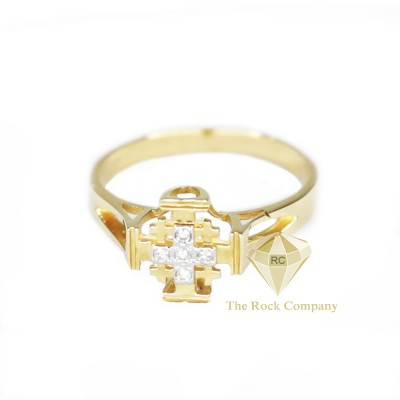 Diamond Jerusalem Cross 14K Yellow Gold