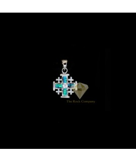Opal Jerusalem Cross Pendant