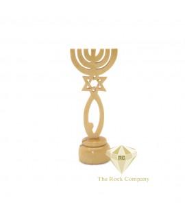 Holy Land Olive Wood Menorah