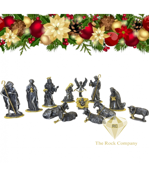 Mother Of Pearl Christmas Nativity Set