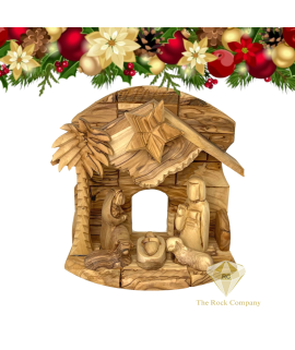 Christmas Musical Nativity scene olive wood hand carved