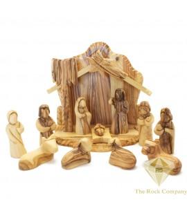 Olive Wood Faceless Nativity Set Hand Carved