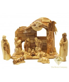 Olive Wood Musical Nativity Set Hand Carved