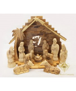 Olive Wood  Nativity Set Hand Carved