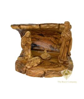 Christmas Nativity scene hand carved Olive Wood