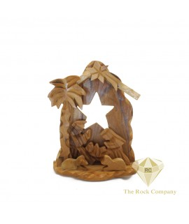 Small Olive Wood Nativity Scene