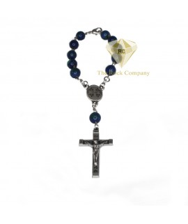 Azurite Rosary With Holy Soil