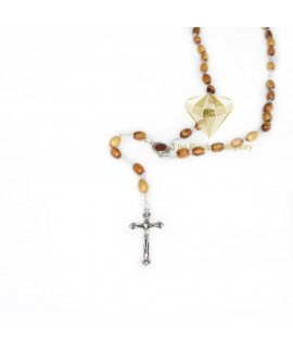 Olive Wood Rosary With Holy Soil